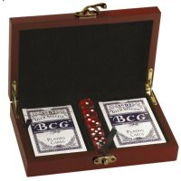 Rosewood Finish Card & DIce set</br>GS001
